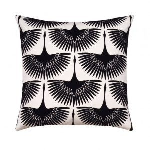 Art Deco Swans Pillow Case