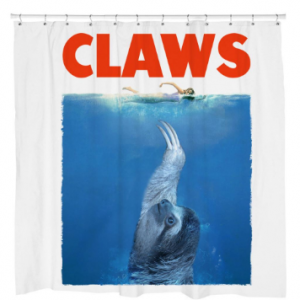 CLAWS Sloth Shower Curtain