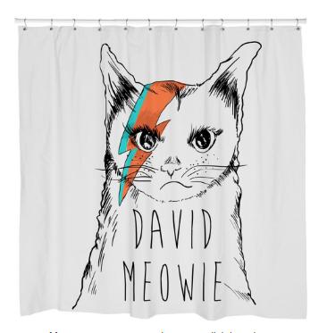 David MeowieShower Curtain