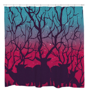 Deer Forest, Deer Shower Curtain