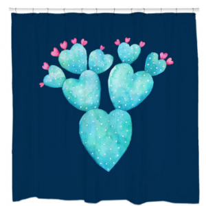 Desert Hearts Shower Curtain