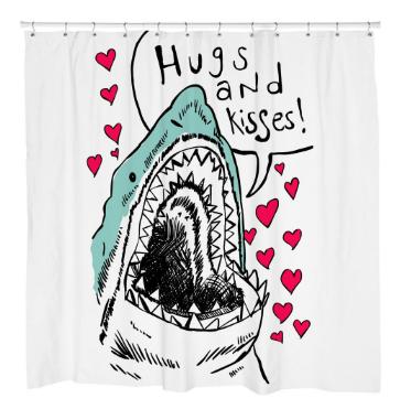 Hugs & KissesShower Curtain