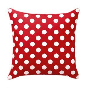 Polka Dot Red Pillow Case