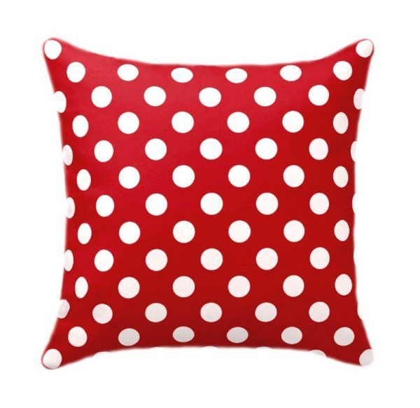 Polka Dot Red Pillow Case