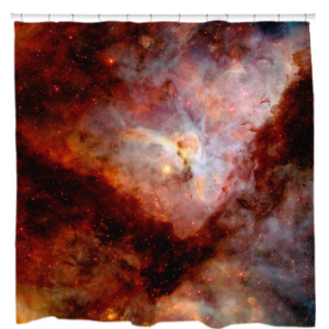 Red Carina Nebula Shower Curtain