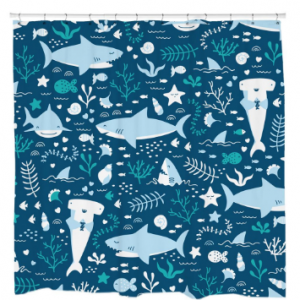 Sharks Life Shower Curtain