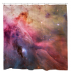 Abstract Art Orion Nebula Shower Curtain