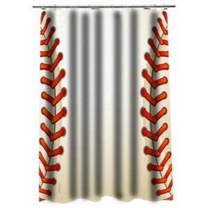Baseball Texture BallShower Curtain