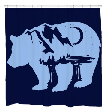 BearscapeShower Curtain