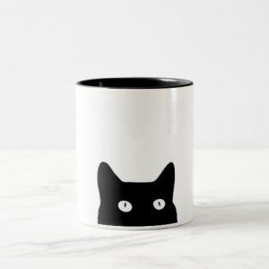 Black Cat Two-Tone Ceramic Mug