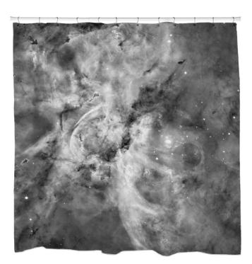 Black and White Carina NebulaShower Curtain