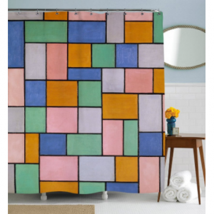 Colorful TilesShower Curtain