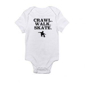 Crawl. Walk. SkateBaby Onesie