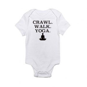 Crawl. Walk. Yoga. Baby Onesie