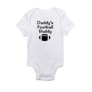 Daddy's Football BuddyBaby Onesie