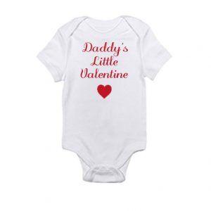 Daddy's Little ValentineBaby Onesie