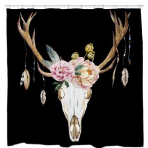Deer SkullShower Curtain
