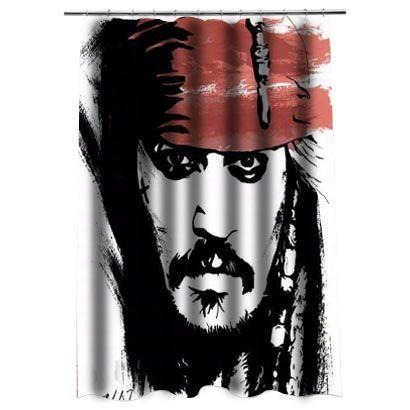 Jack Sparrow Johnny DeppShower Curtain