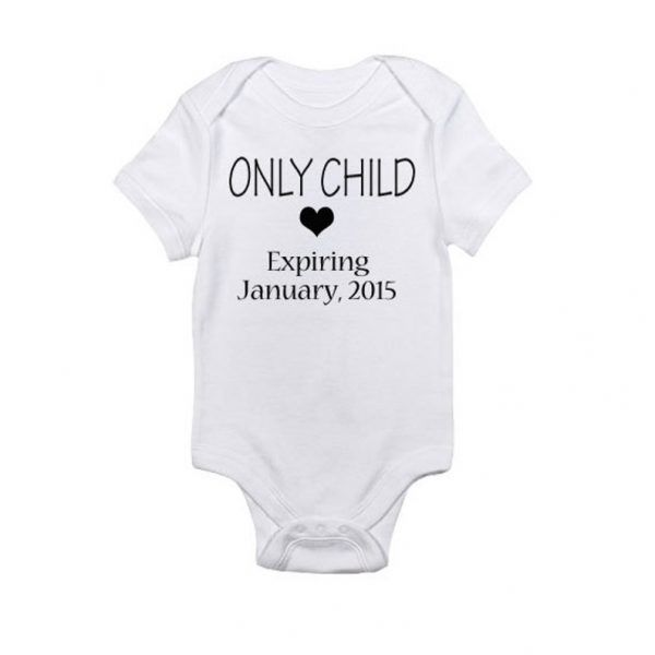 Only Child - Expiring Date Caddy Baby Onesie