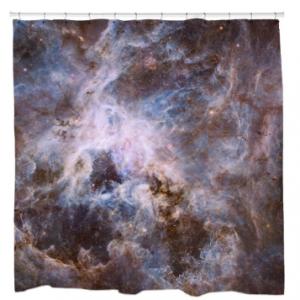 Optical View of Tarantula NebulaShower Curtain