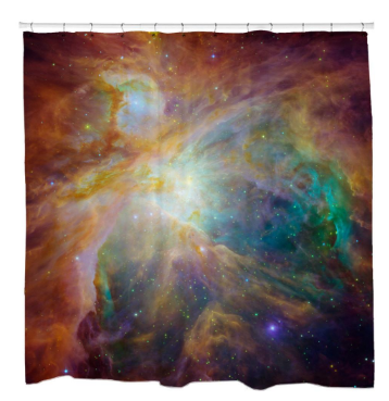 Orion Nebula Masterpiece Shower Curtain