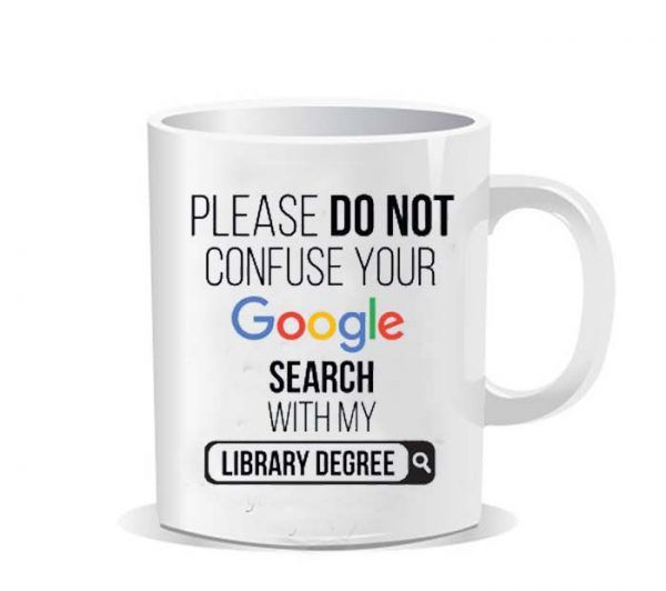 Please do not confuse your google search my Library degree Ceramic Mug