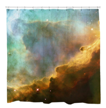 Storm in the Swan NebulaShower Curtain