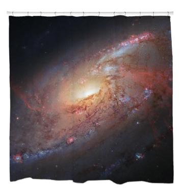 Supermassive Black Hole Shower Curtain