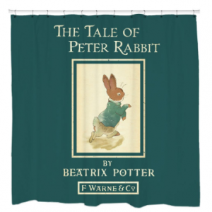 Tail of Peter Rabbit Shower Curtain