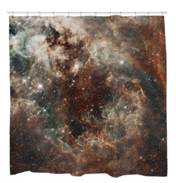 Tarantula Nebula in the Large Magellanic Cloud Shower Curtain