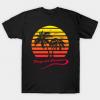Playa del Carmen 80s Sunset Tee Shirt
