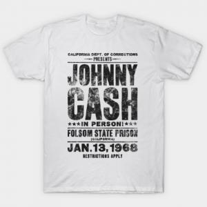 Johnny Cash Concert Tee - Black Tee Shirt