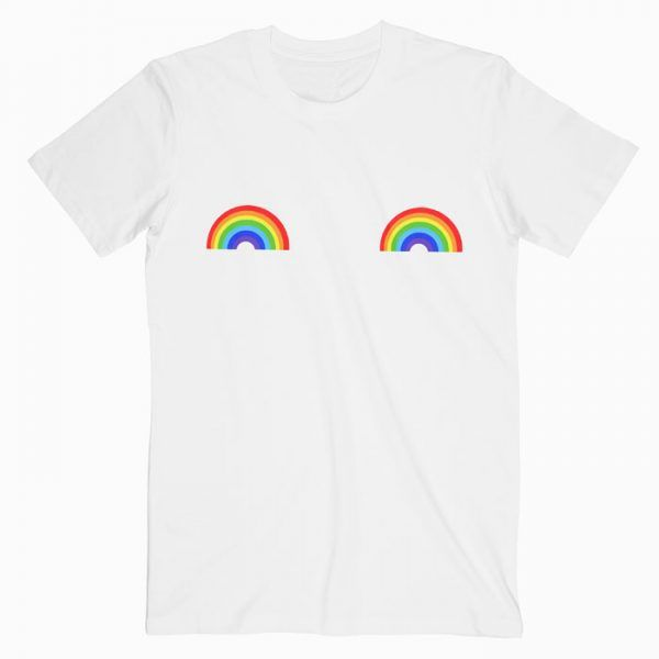 Rainbow Boobs Tee Shirt