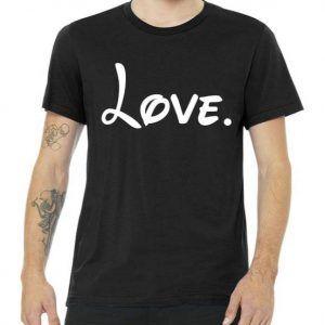 Cute Cursive Love Valentines Day Tee Shirt