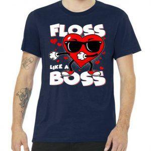Valentine Floss Like A Boss Heart Tee Shirt