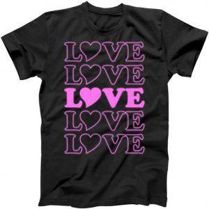 Valentine Love Pattern Tee Shirt