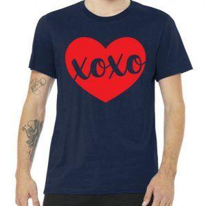 Xoxo Valentines Heart Tee Shirt