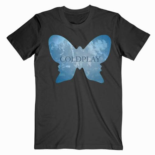 Coldplay Butterfly Music Tee Shirt