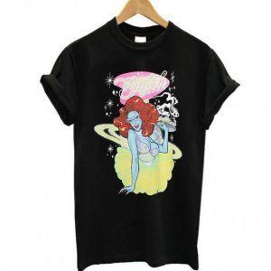 Drag Queen Merch Biqtch Puddin' Alien Waitress Tee Shirt