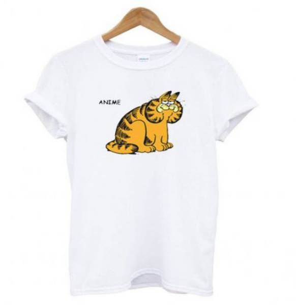 Anime Garfield Tee Shirt