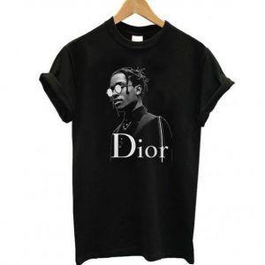 Asap Rocky Dior Black Tee Shirt