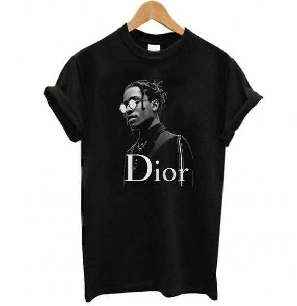 Asap Rocky Dior Black Tee Shirt