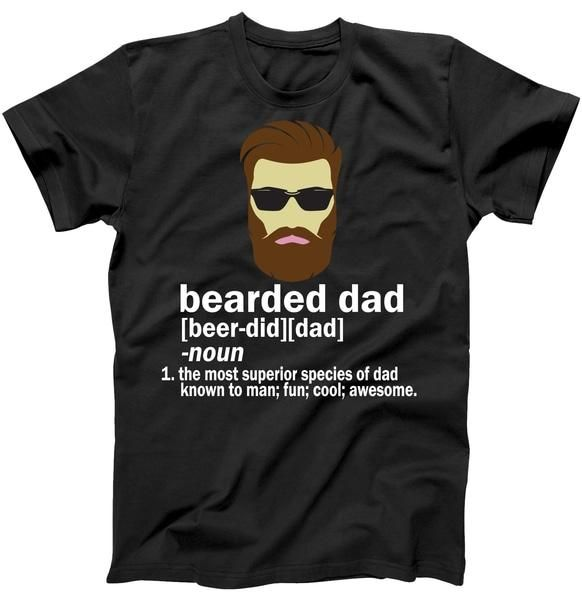 Funny Bearded Dad Definition Tee Shirt