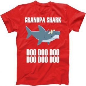 Funny Doo Grandpa Shark Tee Shirt