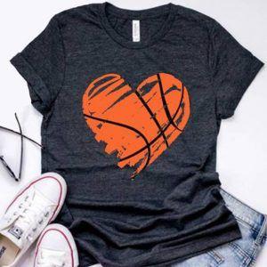 Heart Basketball Tee Shirt