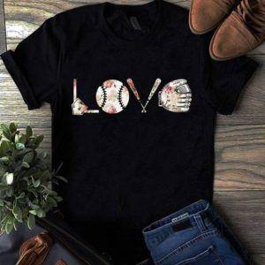 Love baseball Print Tee Shirt