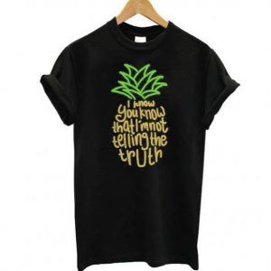 Psych Pineapple Theme Tee Shirt