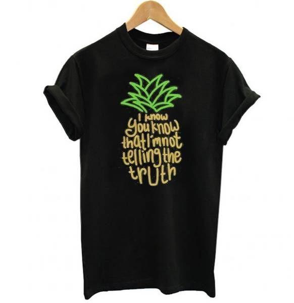 Psych Pineapple Theme Tee Shirt