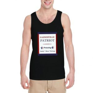 Gainesville-Patriot-Black-Tank-Top-For-Women-And-Men-S-3XL