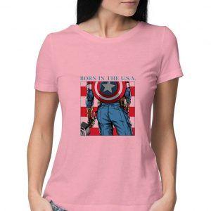 Captain-America-Pink-T-Shirt